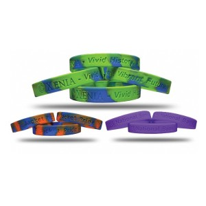 Debossed 2400 Silicone Bracelets